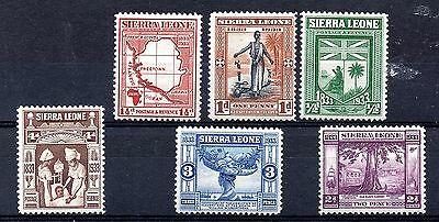 Sierra Leone (539) 1933 part set to 4d Lightly mounted mint Sg168-73