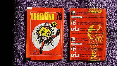 2 packets FKS Argentina '78 football stickers. Unopened