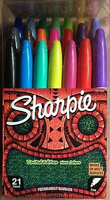 NEW Sharpie 21 Count Limited Edition Permanent Markers Assorted Colors