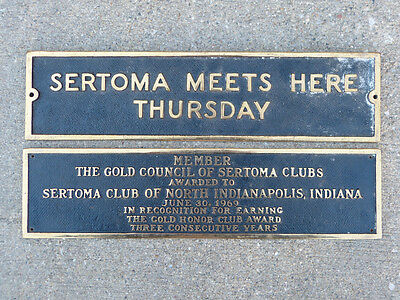 Gold Council SERTOMA Clubs Plaques from 1969 Indianapolis, IN Meets Here