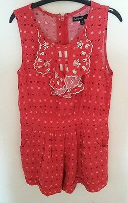 Girls red playsuit age 8 years