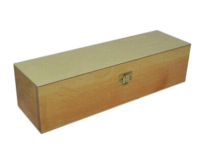 Wooden Long Box Case Crate Storage Decoupage Craft Wood  - Light Color