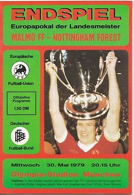 MALMO v NOTTINGHAM FOREST EUROPEAN CUP FINAL 1979