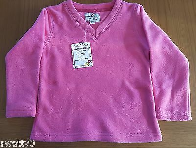 NEW Girls Peter Storm Warm Mid Pink V-Neck Fleece - Age 13