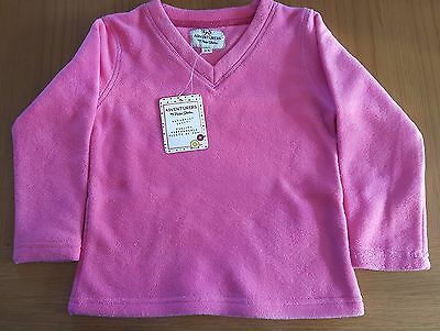 NEW Girls Peter Storm Mid Pink V-Neck Fleece - Age 13