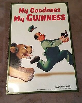 Vintage Guinness Beer Sign Rare Take A LQQK