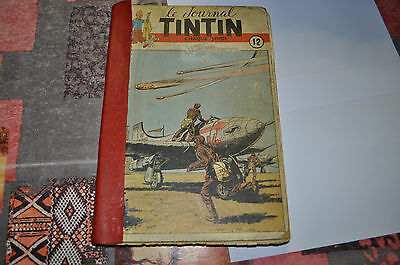 reliure le journal TINTIN n° 12
