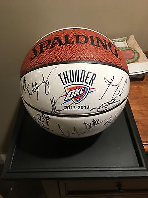 Russel Westbrook & Kevin Durant Autographed Basketball