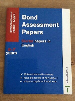 bond assessment paper first papers on english