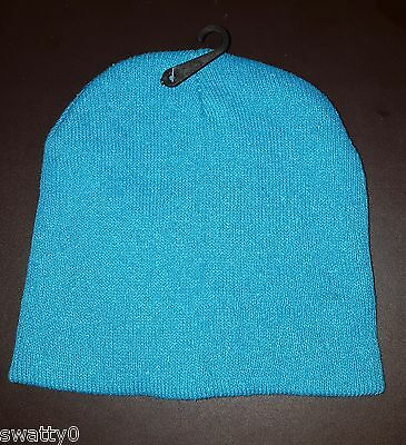 NEW Boys Girls Childrens Kids Beanie Hat ~ Turquoise ~ Ages 4-10