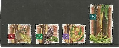 AUSTRALIA 1996 FAUNA AND FLORA (1st SERIES) SET OF FOUR USED  REF 827