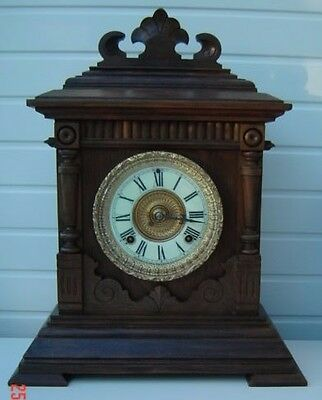 "G W O. Ansonia ""Sharon"" Circa 1894, a lovely antique, 8-day clock"