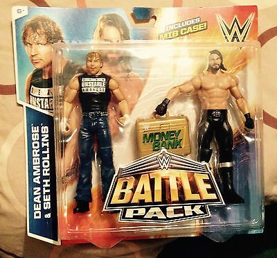 Wwe dean ambrose & seth rollins battle pack 36 figures new very rare