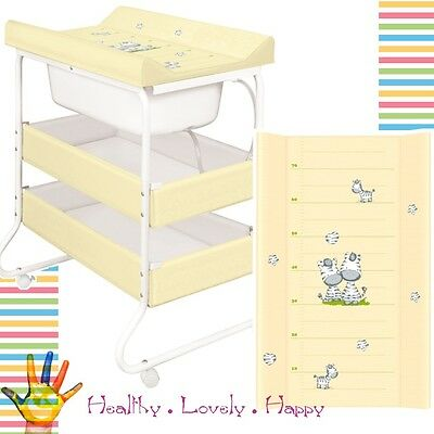 Baby Changing Unit Station with Bath Tub Changing mat Nappy Storage like Cosatto