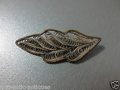 Gorgeous Vintage Ottoman SILVER FILIGREE ORNAMENT Pin Brooch Folklore RARE