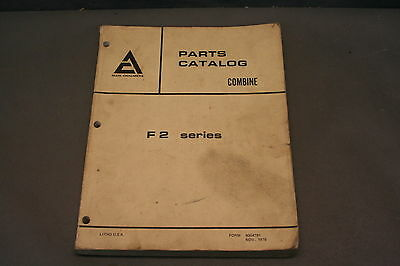 Allis Chalmers F2 Series Combine Parts Catalog Manual                        161