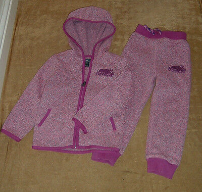 roots designer girls pink hoodies full tracksuit jooging bottom size 3 year £46