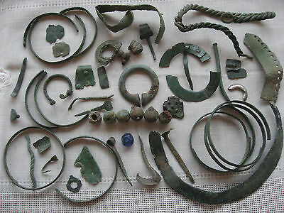 Ancient Viking Bronze Items.
