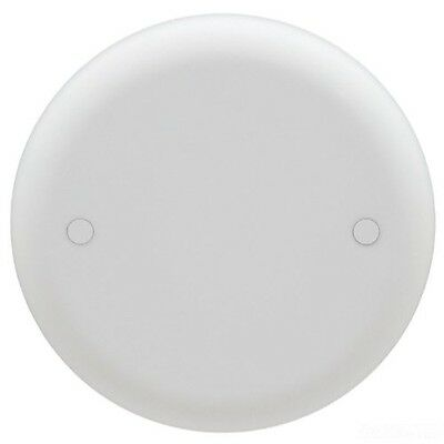 Carlon CPC4WH Ceiling Fan Box Cover, Round, Blank, 4-Inch Diameter, White