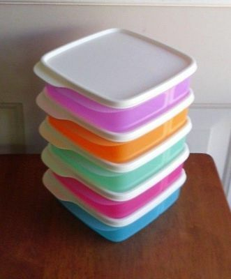 Tupperware Lunch It Containers Divided Boxes Sandwich Snacks Set 5 W/Seals New