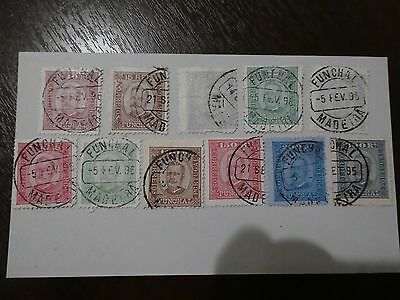Madeira Funchal collection of 11 stamps