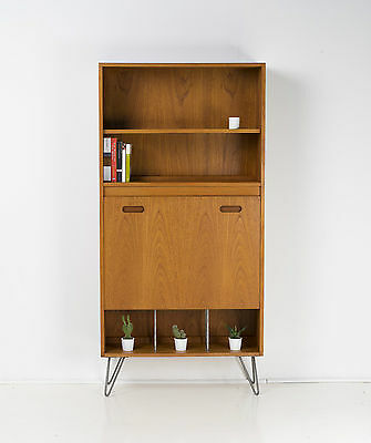 Vintage Teak BOOKCASE * Drinks Cabinet * gPlan Upcycled Hairpin Legs DELIVERY