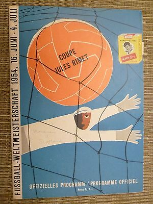 1954 World Cup Official Programme- URUGUAY v SCOTLAND  (+INSERTOrg,Exc)