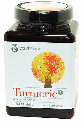 Youtheory Turmeric Advanced Formula Food Supplement - 180 Tablets