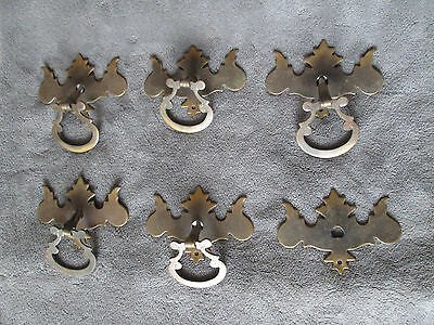 """Vintage Drawer Pull Lot of 6 Hardware Chippendale Drop Handle 3.25"""""""