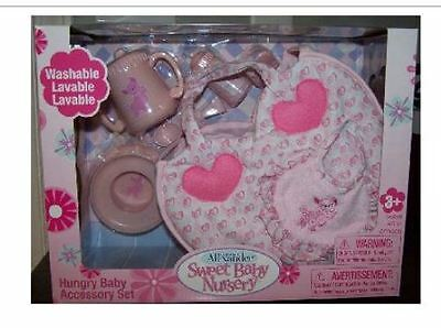 Sweet Madame Alexander Hungry Baby Accessories! Brand New! Great Gift!