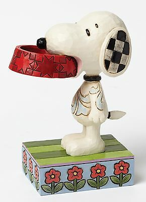 Jim Shore Peanuts More Food Please Snoopy with Dog Dish Figurine 12.5cm 4049411