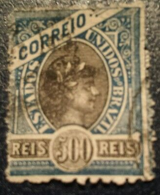 Brazil Stamps. Early  500 Reis  Used.ref 49