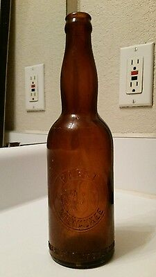 Pabst Brewing Co Milwaukee Amber Blown Crown Top Beer Export Tbntbs One Line
