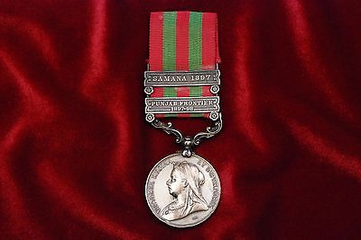 BRITISH VICTORIAN 1895 INDIA GENERAL SERVICE MEDAL w/2 BARS TO ROYAL IRISH REGIM