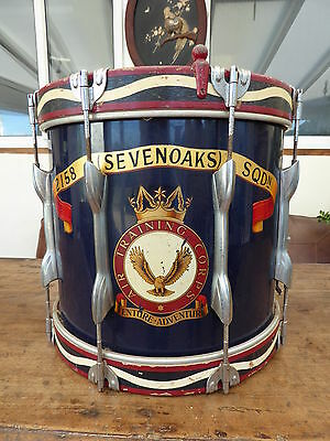 215A Seven Oaks Sqdn Atc Military  Drum 1930,s Free Shipping To Mainland England