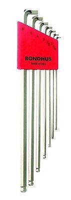 Bondhus 16792 Stubby Ball End Tip Hex Key L-Wrench Set with BriteGuard Finish (7