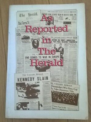 As Reported in The Herald, 1883-1982