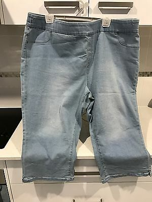 Size 24 Denim 3/4 Pants