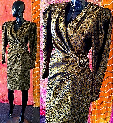 Vintage 80s Silk Dress NWT Party Cocktail Evening Couture Dress