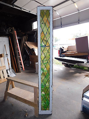Antique Door Sidelight Stained Glass Window - C. 1915 Architectural Salvage
