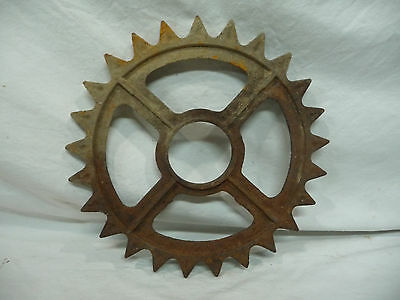 Antique Industrial Gear - Original Rusty Patina Garden Decor