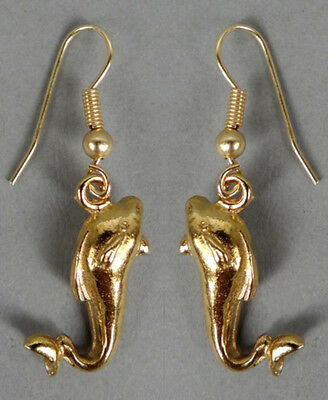 22kt GP Gold Roman Dolphin Earrings