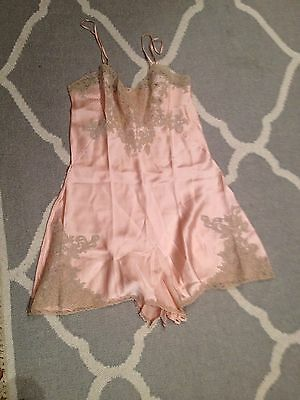 1920's vintage lingerie teddy with lace