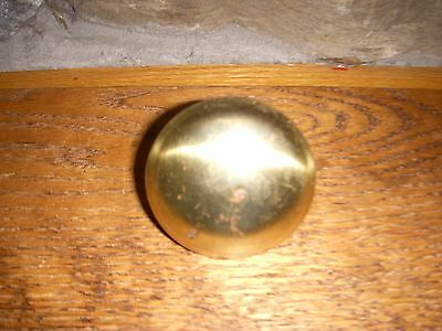Reproduction Used Brass Plated Steel Door Knob Has Some Wear & Tarnish