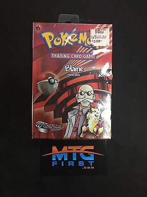 Blaine's Theme Deck - ENGLISH - SEALED - VERY RARE - Gym Challenge -  Pokemon