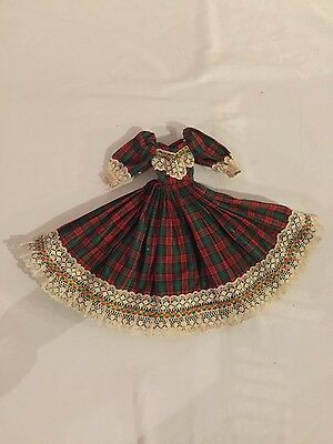 HOLIDAY CHRISTMAS DOLL DRESS Green & Red Plaid Xmas BARBIE CLOTHES
