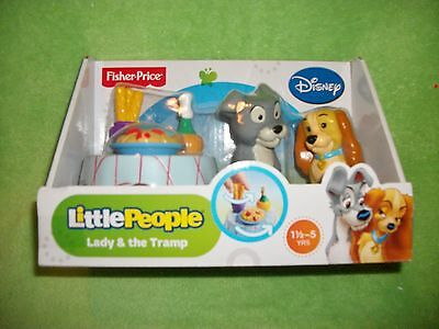 NEW Fisher-Price Little People Disney Lady and the Tramp Playset