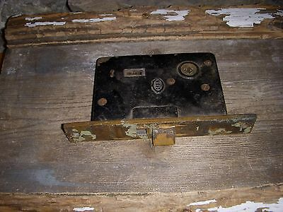 Heavy Solid Old Antique Corbin Large Brass/metal Mortise Lock No Key