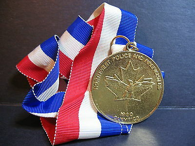 Vintage Northwest Police and Firefighters 1980 Olympics Medal