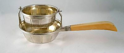 Art Deco Sterling Silver 950 Tea Strainer Drip Bowl with Handle- France 1920/30s